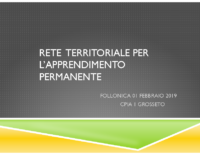 RETE TERRITORIALE PER L'APPRENDIMENTO PERMANENTE